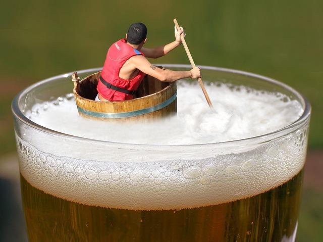 plutí v pivu