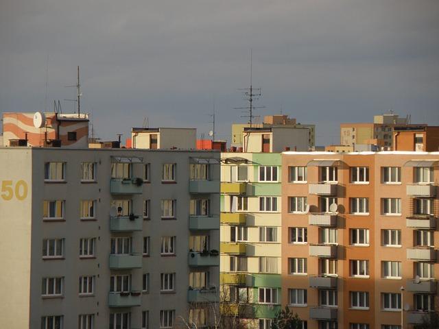 budovy na sídlišti